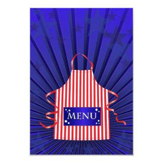 American Diner Menu Invitations