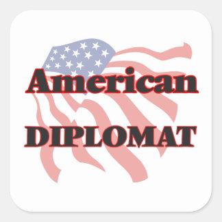 American Diplomat Square Sticker
