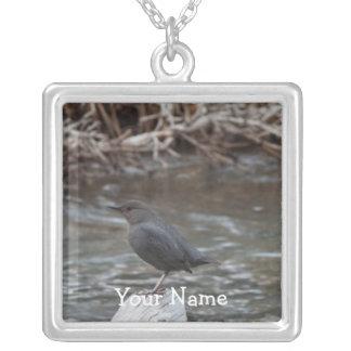 American Dipper; Customizable Square Pendant Necklace