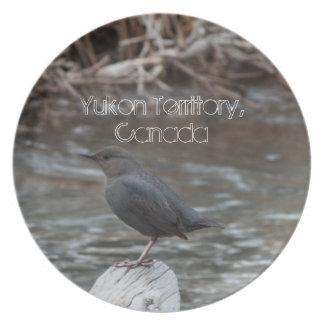 American Dipper; Yukon Territory Souvenir Dinner Plate