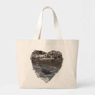 American Dipper; Yukon Territory Souvenir Large Tote Bag