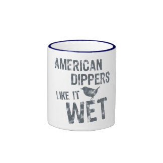 American Dippers Like It Wet Ringer Coffee Mug