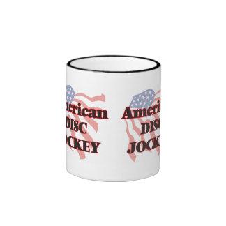 American Disc Jockey Ringer Coffee Mug