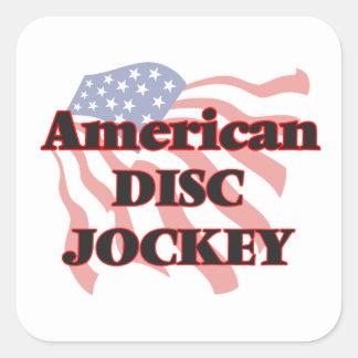 American Disc Jockey Square Sticker