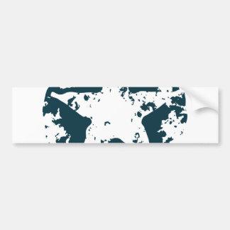 American Distressed Star Bumper Sticker