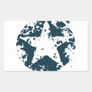 American Distressed Star Rectangular Sticker