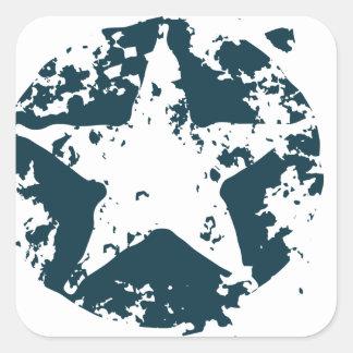 American Distressed Star Square Sticker