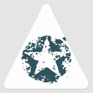 American Distressed Star Triangle Sticker