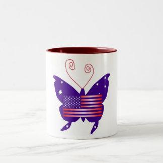 American Diva Butterfly Coffee Mugs