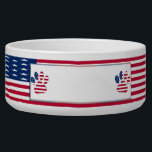 "American Dog Ceramic Pet Bowl<br><div class=""desc"">Show everyone that &quot;Fido&quot; is 100% American dog, and proud of it, when you purchase &quot;American Dog&quot; ceramic pet bowl. This pet bowl can be personalized with the name of your beloved pet in the large area provided. Choose from several different fonts and font colors. Great gift idea for pet...</div>"