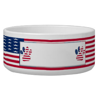 American Dog Ceramic Pet Bowl