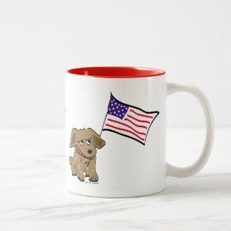 American Dog Coffee Mug