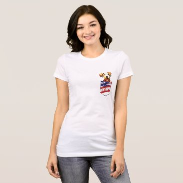 Beach Themed American dog pocket T-Shirt