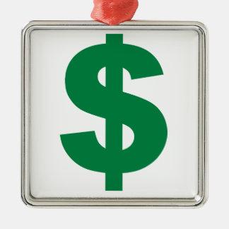 American Dollar Metal Ornament