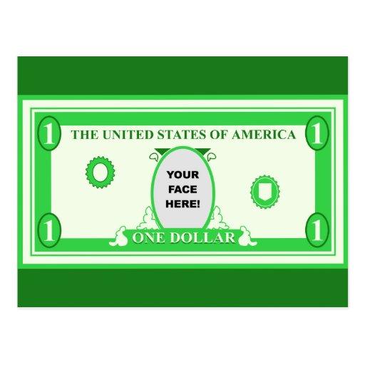 American Dollar Template Postcard | Zazzle