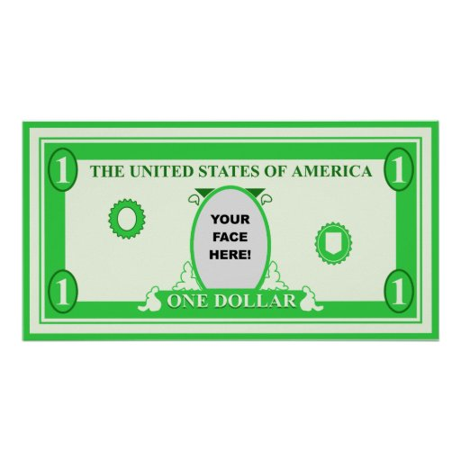 American Dollar Template Poster