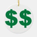 American Dollars Christmas Tree Ornaments