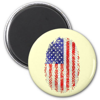 American down to my fingerprints USA pride 2 Inch Round Magnet