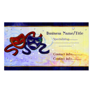 American Drama Comedy Tragedy Business Card Template