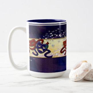 American Drama Comedy & Tragedy Two-Tone Coffee Mug