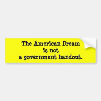 American Dream Car Bumper Sticker