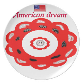American dream dinner plate