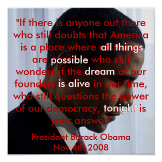 American Dream Obama Speech Poster From 14.95