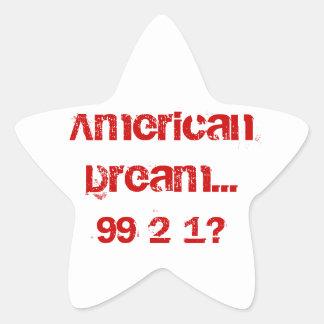 American Dream... Star Sticker
