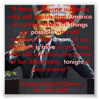 American Dream Victory Speech Post... - Customized Posters