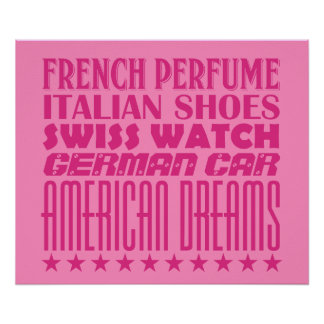 American Dreams - Mixed Typography (Hot Pink) Poster