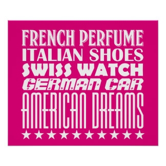 American Dreams - Mixed Typography (White) Poster