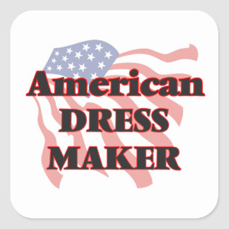 American Dress Maker Square Sticker