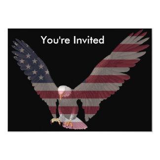American Eagle 5x7 Paper Invitation Card