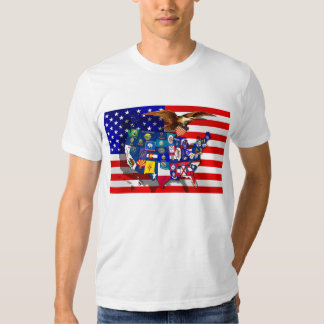 American Eagle American Flag Bald Eagle Shirt