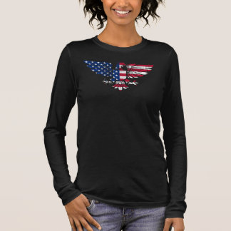 American Eagle and Flag design.Long sleeve. Long Sleeve T-Shirt