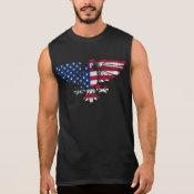 American Eagle and Flag Design. Sleeveless Tshirt. Sleeveless Tee