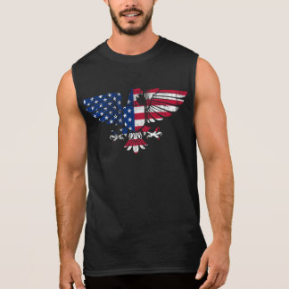 American Eagle and Flag Design. Sleeveless Tshirt. Sleeveless Shirt