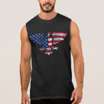 American Eagle and Flag Design. Sleeveless Tshirt. Sleeveless T-shirt