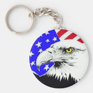 AMERICAN EAGLE AND FLAG KEYCHAIN