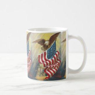 American Eagle and Flag Mug