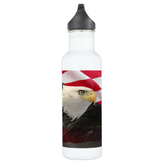 American Eagle and Flag Water Bottle