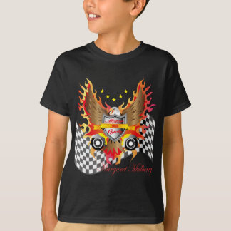 American Eagle and Motor cycle speed flag T-Shirt