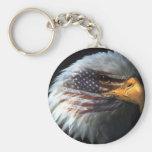 American Eagle Basic Round Button Keychain