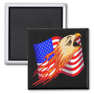 American Eagle Biker T shirts Gifts 2 Inch Square Magnet