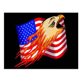 American Eagle Biker T shirts Gifts Postcard