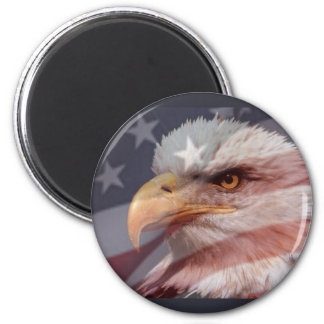 AMERICAN EAGLE by SHARON SHARPE 2 Inch Round Magnet