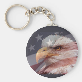AMERICAN EAGLE  by SHARON SHARPE Basic Round Button Keychain