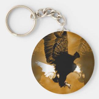 American Eagle calvo en vuelo Llavero Redondo Tipo Pin