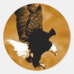 American Eagle calvo Etiquetas