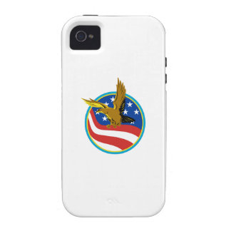 American Eagle Carry USA Flag Retro iPhone 4 Cover